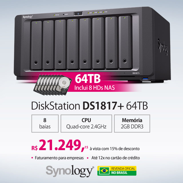 Synology DS1817+ 64TB