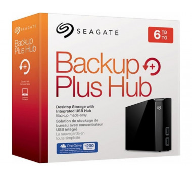 HD Externo Seagate | 6TB | Backup Plus Hub | USB 3.0 | MPN: STEL6000100