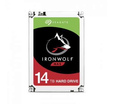 HD Interno | Seagate IronWolf | 14TB | Ideal para NAS | SATA III | 7200rpm | Cache 256mb | MPN: ST14000VN0008