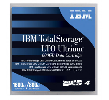 Fita LTO-4 Ultrium | IBM | 800GB Nativo/1.6TB | MPN: 95P4436
