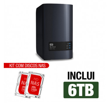 Nas WD | My Cloud EX2 Ultra | 6TB | Inclui 2 HDs NAS 3TB