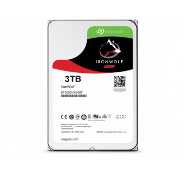 HD Interno Seagate | IronWolf | 3TB | Ideal Para Nas | MPN: ST3000VN007