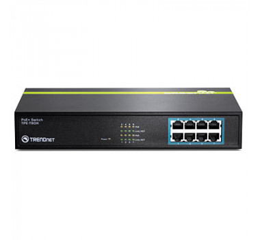 Switch Trendnet | 8 Portas | PoE | MPN: TPE-T80H