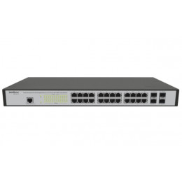 Switch Intelbras Inet | SG2404 | 24 Portas Gigabit | 4 SFP | Layer 2 | MPN: SG2404 MR L2+