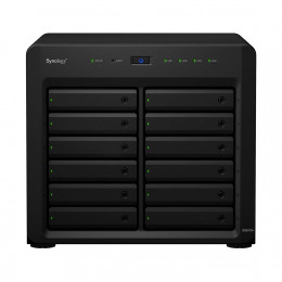 Nas Synology | DS2419+ | Quad-Core 2.1 Ghz | 4GB RAM | Expansível até 192 TB | 4x Gigabit | 12 Baias | MPN: DS2419+