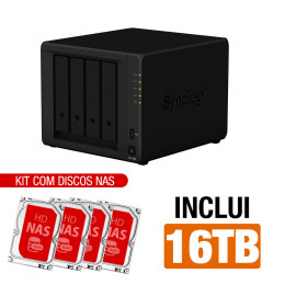NAS Synology | DS420+ | 16TB | CPU Dual-core 2,0 GHz | 2GB DDR4 | 2x 1GbE | Inclui 4 HDs NAS de 4TB