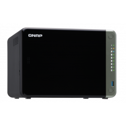 NAS Qnap | TS-653D-4G | 6 Baias | CPU Intel Quad-Core 2.0GHz | 4GB DDR4 | 2.5GbE | Sem discos