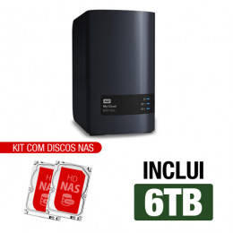 Nas WD | My Cloud Expert | EX2 Ultra | 6TB | Dual-Core 1.3 Ghz | 1GB RAM | Gigabit | Inclui 02 HDs NAS 3TB