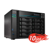 NAS Asustor | Lockerstor 10 AS6510T | 40TB | CPU Intel Quad Core 2.1GHz | 8GB RAM | 10 GbE | Inclui 10 HDs NAS de 4TB